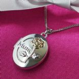 Mum Silver Locket, personalised ref. MSL1